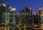 SINGAPORE, Marina Bay, and Singapore skyline at night, SIN1158JPL