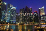 SINGAPORE, Marina Bay, and Singapore skyline at night, SIN1159JPL