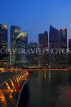 SINGAPORE, Marina Bay, and Singapore skyline at night, SIN1165JPL