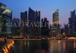 SINGAPORE, Marina Bay, and Singapore skyline at night, SIN1166JPL