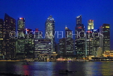 SINGAPORE, Marina Bay, and Singapore skyline at night, SIN1223PL