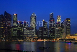 SINGAPORE, Marina Bay, and Singapore skyline at night, SIN1224PL