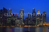 SINGAPORE, Marina Bay, and Singapore skyline at night, SIN1225PL
