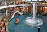 SINGAPORE, Marina Bay Sands, The Shoppers (shopping mall), sampan rides, SIN1100JPL