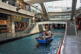 SINGAPORE, Marina Bay Sands, The Shoppers (shopping mall), sampan rides, SIN1107JPL