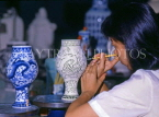SINGAPORE, Ming Pottery, artist at work, SIN244JPL