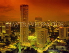 SINGAPORE, Swissotel Stamford Hotel towers, and city view at night, SIN241JPL
