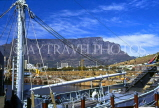 SOUTH AFRICA, Cape Town, Table Mountain and harbour view, SA1105JPL