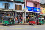 SRI LANKA, Gampola, town centre small shops and three wheeler taxis, SLK4164JPL