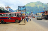 SRI LANKA, Gampola, town centre street, and public bus, SLK4162JPL