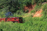 SRI LANKA, Gampola area, train running through countryside, SLK3171JPL