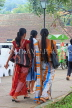SRI LANKA, Kandy, Kandy lakeside, women in traditional Kandyan style sari, SLK3941JPL
