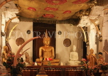 SRI LANKA, Kandy, Temple of the Tooth (Dalada Maligawa), Thai shrine, seated Buddha statue, SLK3045JPL