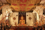 SRI LANKA, Kandy, Temple of the Tooth (Dalada Maligawa), Thai shrine, seated Buddha statue, SLK3046JPL