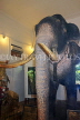 SRI LANKA, Kandy, Temple of the Tooth (Dalada Maligawa), famous Raja elephant (stuffed remains), SLK3321JPL