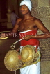 SRI LANKA, Kandy, Temple of the Tooth (Dalada Maligawa), temple drummer, SLK199JPL