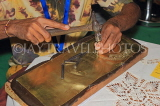 SRI LANKA, Kandy, crafts, metal, brass worker, SLK5105JPL