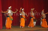 SRI LANKA, Kandy, dance ensemble, dancers performing, SLK2942JPL