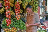 SRI LANKA, Kandy, roadside fruit stall and vendor, SLK1805JPL
