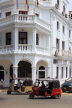 SRI LANKA, Kandy, town centre, three wheeler taxis going past Queens Hotel, SLK3866JPL