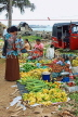 SRI LANKA, Negombo, market, fruit and vegetable market, vendors and shopper, SLK2686JPL