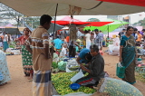 SRI LANKA, Negombo, market, fruit and vegetable market, vendors and shoppers, SLK2662JPL