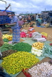 SRI LANKA, Negombo, market, vegetable market stalls, SLK345JPL