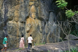 SRI LANKA, hill country, Baduruvagala, ancient rock carvings, SLK210JPL