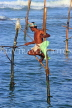 SRI LANKA, south coast, Ahangama area, Stilt Fisherman, SLK4774JPL