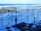 SRI LANKA, south coast, Ahangama area, Stilt Fishermen, SLK166JPL