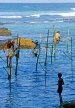 SRI LANKA, south coast, Ahangama area, Stilt Fishermen, SLK2113JPL