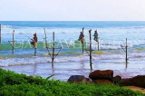 SRI LANKA, south coast, Ahangama area, Stilt Fishermen, SLK4758JPL