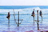 SRI LANKA, south coast, Ahangama area, Stilt Fishermen, SLK4759JPL