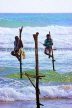 SRI LANKA, south coast, Ahangama area, Stilt Fishermen, SLK4760JPL