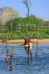 SRI LANKA, south coast, Ahangama area, Stilt Fishermen, SLK4765JPL