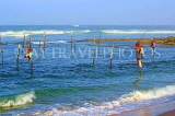 SRI LANKA, south coast, Ahangama area, Stilt Fishermen, SLK4772JPL