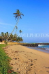 SRI LANKA, south coast, Ahangama area, beach and coconut trees, SLK4746JPL
