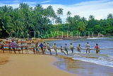SRI LANKA, south coast, Ambalangoda, fishermen hauling in nets, SLK3273JPL