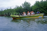 SRI LANKA, south coast, Bentota, tourists enjoying river boat trip, SLK1758JPL