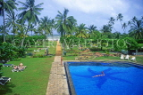 SRI LANKA, south coast, Bentota Beach Hotel, pool and view towards sea, SLK1993JPL