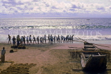 SRI LANKA, south coast, Beruwela, fishermen hauling in nets, SLK343JPL