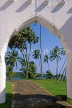 SRI LANKA, south coast, Galle, coast view through arch at Closenberg Hotel, SLK2000JPL