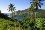 ST LUCIA, Marigot Bay, coastal panoramic view, STL736JPL
