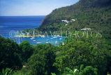 ST LUCIA, Marigot Bay, panoramic view, STL643JPL