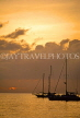 ST LUCIA, Reduit Beach, dusk view and sailboats, STL720JPL