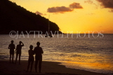 ST LUCIA, Reduit Beach, people watching sunset, STL944JPL
