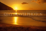 ST LUCIA, Reduit Beach and sunset, STL705JPL