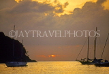 ST LUCIA, Reduit coast, dusk view and boats, STL765JPL