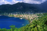 ST LUCIA, Soufriere, town and coastal view, STL738JPL