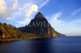 ST LUCIA, The Pitons, view from sea, STL603JPL